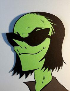 Gorillaz: Ace Paper Cut-Out - DocGold13