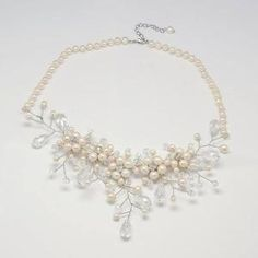Pearl and glass beads necklace made by Eileen McRory from LC.Pandahall.com | Necklace 2 | Pinterest by Jersica