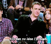 Inspiring animated gif gif, high, himym, how i met your mother, lily aldrin, marshall ericksen, quotes, ted mosby, marshmallow and lilypad #2227772 by KSENIA_L - Resolution 500x232px - Find the image to your taste