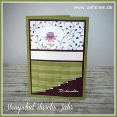 Lüftchen Stempelstudio Bergedorf, thank you card, SAB, Stampin Up!, drapery fold card,