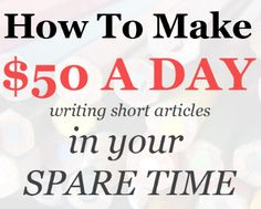 Several years ago, when I was just starting out online, I did a lot of writing for money. I loved it, because it was such a reliable, real way of making some money. And I did it on the side, just after work or on the weekends. This writing habit helped me start my own blog and make over $10k every single month, so it was one of the best things I ever did. Once you get regular clients, they're happy to pay top dollar for the content you produce. I used to get paid $15-20 USD for a 500