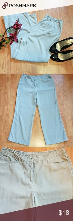 J. Jill grey tencel pants super soft These dress pants have been worn but are in excellent condition.  The waist measures at 16 inches across, there is an 11 inch rise and the inseam is 27.5 inches. J. Jill Pants