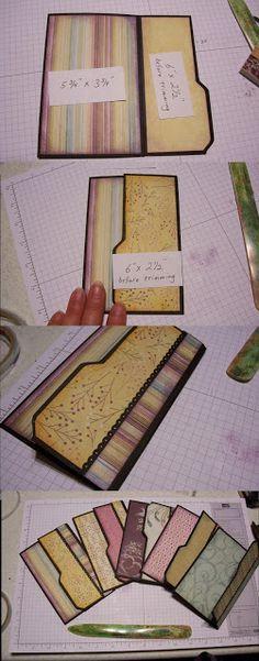 Cyndi's Stamping Blog: Tutorial - Envelope Punch Board File Folder Album