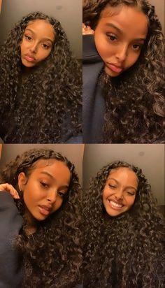 Baddie Hairstyles, Weave Hairstyles, Cute Hairstyles, Hair Inspo, Hair Inspiration, Poses, Curly Hair Styles, Natural Hair Styles, Pretty Black Girls