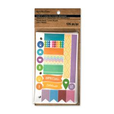 <div>Decorate your calendar and planners with this Craft It Organize It washi book by Recollecti...