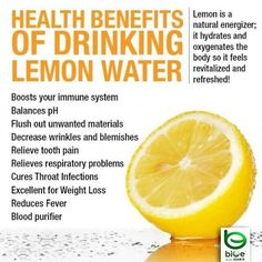 Benefits if drinking lemon In your water. www.beachbodycoach.com/andreahicks www.shakeology.com/andreahicks