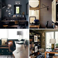 Emily Henderson_Home Office_Masculine_Modern_Dark_Ecletic_Blue_Inspiration_Photos