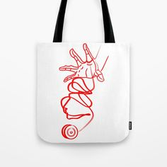 yoyo face Tote Bag by andreeaivanciof White Cotton, Towels, Reusable Tote Bags, Silhouette, Bath, Sun, Printed, Artist, Color