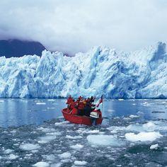La laguna de San Rafael, que da nombre a un parque nacional en la región de Aysén