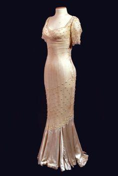 Marilyn Monroe-Cream Mermaid Dress Short Sleeves-Wedding Bridal-Custom Made to Size. $1,200.00, via Etsy.