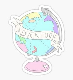 Adventure Globe Sticker