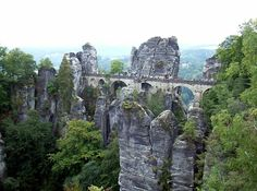 The Bastei is situated in a National Park called Saxon Switzerland which can occasionally lead to confusion with the real Switzerland which is quite a way away.  The name in fact originates from two visiting Swiss artists who in 1766 attended the Dresden Academy of Art.