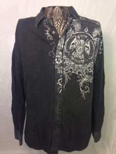 Affliction Men's 100% Cotton Black Shirt  Rare & Sexy XL NWOT Luxe Make An Offer