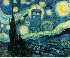 The Vincent Van Gogh episode of Dr. Who was so lovely and heartbreaking.  She has lots of other nerd-ed up paintings as well. :)