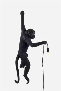 Monkey Lamp - Hanging, Black