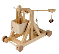 Shop for Timberkits - Trebuchet - Wooden Automata Kit. Starting from Choose from the 2 best options & compare live & historic toys and game prices. Wooden Puzzles, Wooden Toys, Wooden Model Kits, Kit Diy, Palette, Thing 1, Timber Wood, Catapult, Automata