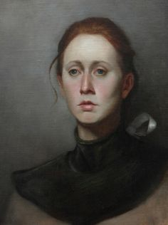 "Saatchi Online Artist: Camila Rocha; Oil, Painting ""The foreign, head study."""