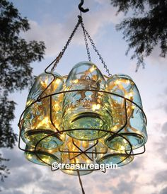 Vintage Chandelier Antique Mason Jar Chandelier 6 by treasureagain