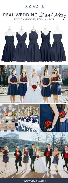 Azazie is the online destination for special occasion dresses. Our online boutique connects bridesmaids and brides with over 400 on-trend styles, where each is available in 50+ colors. Wedding Shit, Our Wedding Day, Dream Wedding, Bridesmaid Dress Colors, Bridesmaid Gowns, Wedding Dresses, 50s Vintage, Vintage Dresses, Blue Party Decorations
