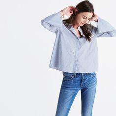 Bell-Sleeve Shirt in Stripe