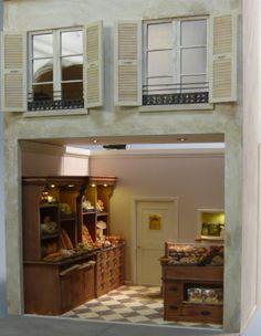 Miniature shop 'Le Fournil du M Village' interior