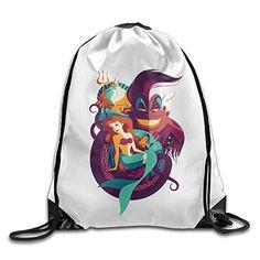 The Little Mermaid Poster Vintage Cool Gym Bag Travel Drawstring Backpack