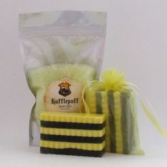 Butterbeer  Hufflepuff Soap and Bath Salt Gift by CherryPitCrafts