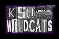KSU Wildcats letter art Print by a2zphotography on Etsy, $20.00