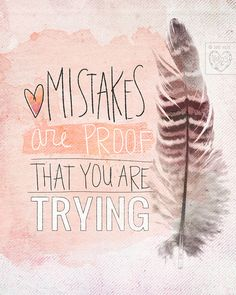 Mistakes Are Proof - Beautifully textured cotton canvas art by vol25