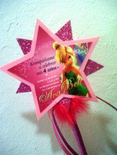 Tarjeta De Invitacion Para Cumpleanos La Campanita Tinker Bell Tattoo