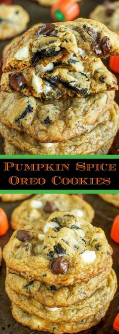 Pumpkin Spice Oreo Chocolate Chip Cookies are a must make for fall! Pumpkin pie meets cookies and cream meets chocolate chip cookies. What could be better?