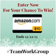 $40 Amazon Giftcard Giveaway by #TeamWorkGroup - Espacularaiesa