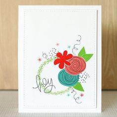 Learn how to create a card with overlapping stamps using masking paper.