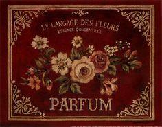 burgundy label