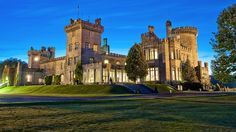 Dromoland Castle, near Newmarket-on-Fergus in County Clare, Ireland, was built between the 15th and 16th centuries and once belonged to the Earl of Thomand. Today, it's renowned for its golf course and Michelin-starred restaurant.