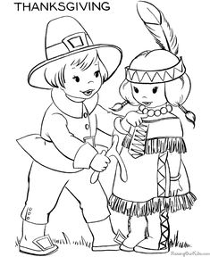 Thanksgiving coloring pages --- 100's of FREE printable coloring sheets and pictures for kids!