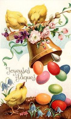 Easter Greetings from the Days of Yesteryear (Fifth Edition) Easter Art, Hoppy Easter, Easter Crafts, Vintage Greeting Cards, Vintage Postcards, Decoupage, Diy Ostern, Easter Parade, Easter Celebration