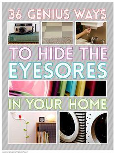36 Genius Ways To Hide The Eyesores In Your Home