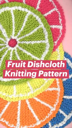 Knitted Dishcloth Patterns Free, Crochet Dishcloths, Knitting Patterns Free, Knit Crochet, Crotchet, Knitting Projects, Crochet Projects, Quick Knits, Crochet Tutorials
