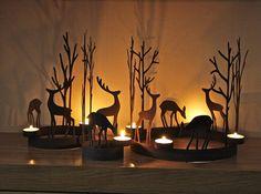 set of three reindeer tealight rings by london garden trading   notonthehighstreet.com