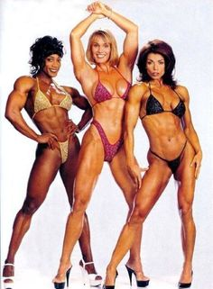 Female #bodybuilding legends! Lenda Murray, Corey Everson, Sharon Bruneau  #fitness #inspiration  www.jacquifit.com