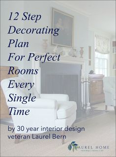 The Decorating Plan That Works Every Time 12 step decorating plan for perfect rooms every single time by New York Interior designer, Laurel Bern Cute Dorm Rooms, Cool Rooms, Decoration Inspiration, Decor Ideas, Decorating Ideas, Interior Decorating Tips, Decorating Websites, Farmhouse Side Table, Farmhouse Decor