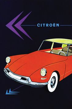 Citroen Ds, Vintage Advertisements, Vintage Ads, Vintage Posters, Advertising Poster, Poster Ads, Citroen Traction, Man Office, Old Commercials