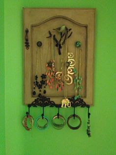 Jewlery board - Made from an old cabinet door!