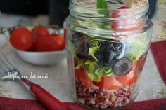 Insalata+di+riso+rosso+integrale+in+vasetto