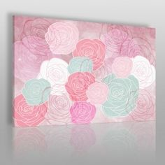 Ogrody różane - nowoczesny obraz na płótnie