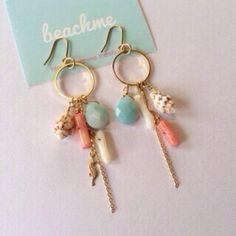 Ocean pierced earring