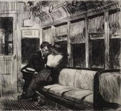 Edward Hopper, Night on El Train, 1918
