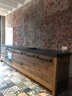 33 Inspiring Kitchen Floor Plans You Will Love / Design / Amazing Industrial Kitchen Design, Outdoor Kitchen Design, Modern Kitchen Design, Rustic Kitchen, Interior Design Kitchen, Diy Kitchen, Kitchen Decor, Concrete Kitchen, Kitchen Flooring