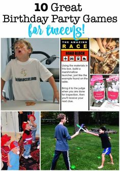 If you plan on hosting ten graders at your home on a Saturday afternoon- you need a game plan on how you are going to entertain your party guests! So here are a few ideas for Birthday Party Games for Tweens! Easy Kids Party Games, Kids Party Games Indoor, Tween Party Games, Sleepover Activities, Birthday Activities, Sleepover Party, Indoor Birthday, Birthday Party At Home, Birthday Party Games For Kids